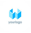 3d letter w logo vector image