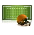 American Football Helmet and Field vector image