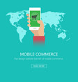 concept of mobile commerce vector image