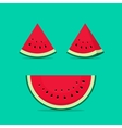 Watermelon slices isolated on vector image