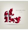 Flag of Denmark as a country vector image