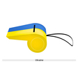 A Blue and Yellow Whistle of Ukraine vector image