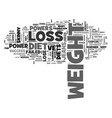 a successful weight loss diet starts from the vector image vector image