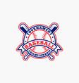 baseball logo badge-1 vector image vector image