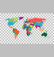 blank colorful world map on isolated background vector image vector image