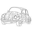 car coloring vector image vector image