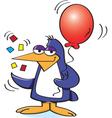 Cartoon Party Penguin vector image vector image