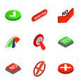 check mark icons isometric 3d style vector image