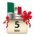 cinco de mayo calendar vector image vector image