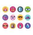 Clothes and fashion icons set Shopping symbols vector image