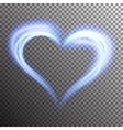 Creative shiny heart shape vector image