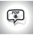 Curved PDF download message icon vector image vector image