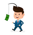 cute happy smiling businessman vector image vector image