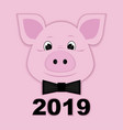 cute piggy paper pink symbol 2019 vector image vector image