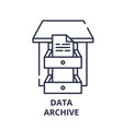 data archive line icon concept data archive vector image vector image