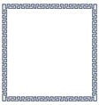Decorative frame for design in Greek style vector image