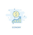 economy line concept simple line icon colored vector image
