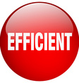 efficient red round gel isolated push button vector image vector image