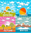 Four Seasons - Spring - Summer - Autumn and vector image vector image