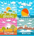 four seasons - spring - summer - autumn