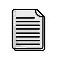grayscale business document information to vector image vector image