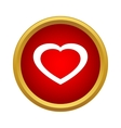 Healthy heart icon simple style vector image vector image