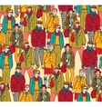 Hipster fashion crowd people color vector image vector image