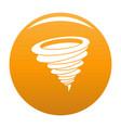 hurricane icon orange vector image vector image