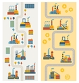 Industrial factory buildings vertical banners vector image vector image