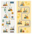 Industrial factory buildings vertical banners vector image