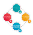 infographic four options circles vector image vector image