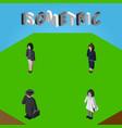 isometric people set of doctor businesswoman vector image vector image