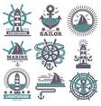 marine nautical sailor symbols heraldic anchor vector image vector image
