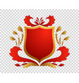 medieval shield coats of arms king and kingdom vector image vector image