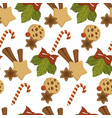merry christmas baked cookies with chocolate vector image vector image