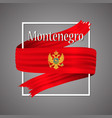montenegro flag official national 3d vector image