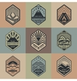 Mount badge set1color1 vector image vector image