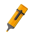 orange highlighter pen with lid vector image vector image