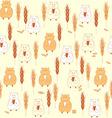 pattern cartoon mammal marmot on a beige backgroun vector image