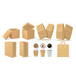 realistic fast food pack 3d paper snack and vector image vector image