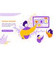 referral program business partnership flat vector image