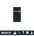 Refrigerator icon flat vector image vector image