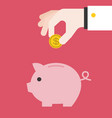 save money piggy bank vector image vector image