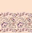 seamless floral banner frame border vector image vector image