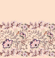 seamless floral banner frame seamless border vector image vector image