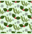 seamless pattern with branches of a christmas vector image