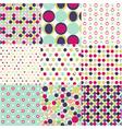 seamless patterns polka dot set vector image vector image