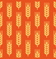 seamless wheat ear background vector image