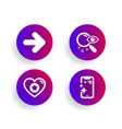 search heart and next icons set smartphone clean