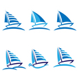 Set of boats logos vector image vector image